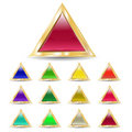 Triangular buttons Royalty Free Stock Photography