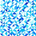 Triangular seamless pattern. Cold triangulated background. Vector modern geometrical backdrop with triangles. Winter colors.