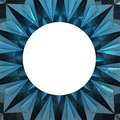 Triangulated blue snowflake circle frame wallpaper Royalty Free Stock Photo