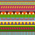 Tribal abstract pattern vector background colorful illustration Royalty Free Stock Image