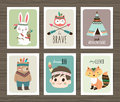 Tribal animals cards