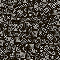 Tribal art. Seamless pattern with abstract figures Royalty Free Stock Photography