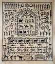Tribal art on silk from India