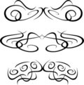 Tribal Artwork tattoo Collection element isolated Royalty Free Stock Photo