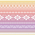 Tribal aztec ombre seamless pattern vector ornament ethnic with effect on colorful background Stock Photography