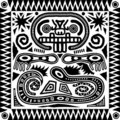 Tribal Aztec Tile Royalty Free Stock Photo