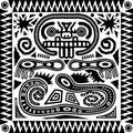 Tribal Aztec Tile Royalty Free Stock Photo