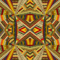 Tribal background with optical effect patchwork fabric Royalty Free Stock Image