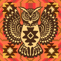 Tribal background with owl