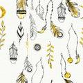 Tribal boho style feathers.