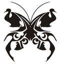 Tribal butterfly tattoo Royalty Free Stock Photo