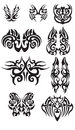 Tribal butterfly tattoo's Royalty Free Stock Photo