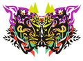 Tribal butterfly wings with arrows Royalty Free Stock Photo