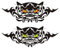 Tribal cat eyes vector ready for a tattoo graphics on the vehicle also for labels stickers and t shirt designs Royalty Free Stock Photos