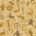 Tribal Cave Painting Royalty Free Stock Images
