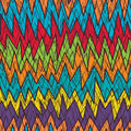 Tribal Chevron crazy line color seamless pattern
