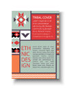 Tribal colorful brochure flyer