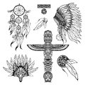 Tribal Doodle Set Royalty Free Stock Photo