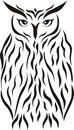 Tribal eagle-owl tattoo Stock Photos