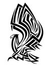 Tribal eagle tattoo Stock Image