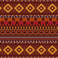 Tribal ethnic seamless pattern on brown background Royalty Free Stock Photo
