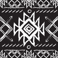Tribal ethnic seamless pattern.national vector ornament of the peoples of the North.