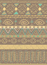 Tribal ethnic seamless pattern vector drawing of african style Stock Image