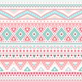 Tribal ethnic seamless stripe pattern vector illustration for your cute feminine romantic design aztec sign on white background Stock Photo