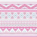 Tribal ethnic seamless stripe pattern vector illustration for your cute feminine romantic design aztec sign on white background Stock Photos