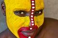 Tribal face Royalty Free Stock Photo