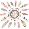 Tribal Feathers Mandala Elements