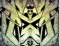 Tribal.Graffiti over old dirty wall, urban hip hop background Gr Royalty Free Stock Photo