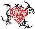 Tribal heart Royalty Free Stock Photography