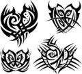 Tribal hearts and shields Stock Image