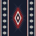 Tribal kilim, abstract geometric ornament, ethnic seamless pattern. Aztec, boho, native fabric.