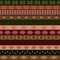 Tribal knitted seamless pattern, indian or african ethnic patchwork style Royalty Free Stock Photo