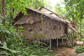 stock image of  Tribal Longhouse