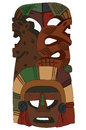 Tribal Mask Native American Aztec Inca Mayan Vector Image Snake Rat Royalty Free Stock Photo