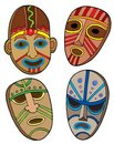 Tribal masks collection Royalty Free Stock Photo