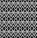 Tribal monochrome lace vector illustration Royalty Free Stock Images
