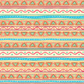 Tribal multicolored striped pattern beautiful abstract with triangles Royalty Free Stock Image