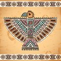 Tribal native american eagle symbols vintage set of Stock Photography