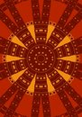 Tribal Pattern Circle in Red