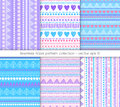 Tribal pattern collection Royalty Free Stock Photo