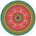 Tribal round ornamental background Royalty Free Stock Photo