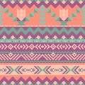 Mexican seamless pattern with geometric shapes.