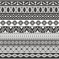 Tribal seamless pattern aztec black and white background Royalty Free Stock Photos