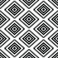 Tribal seamless pattern aztec black and white vector ornament ethnic Stock Photos