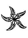 Tribal Starfish Royalty Free Stock Photo