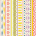 Tribal striped seamless pattern geometric multicolor background vintage colors swatches of included in the file Stock Image
